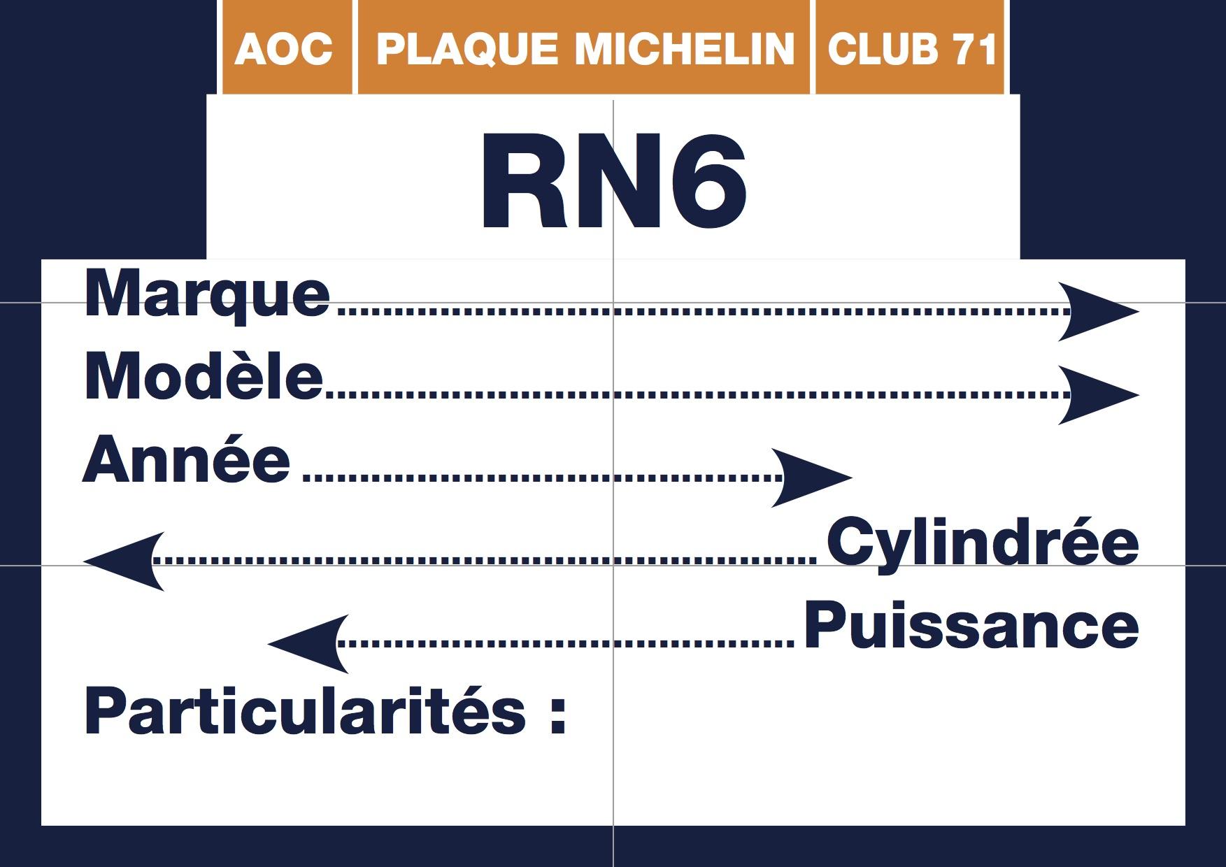 Plaque-Michelin RN6 1